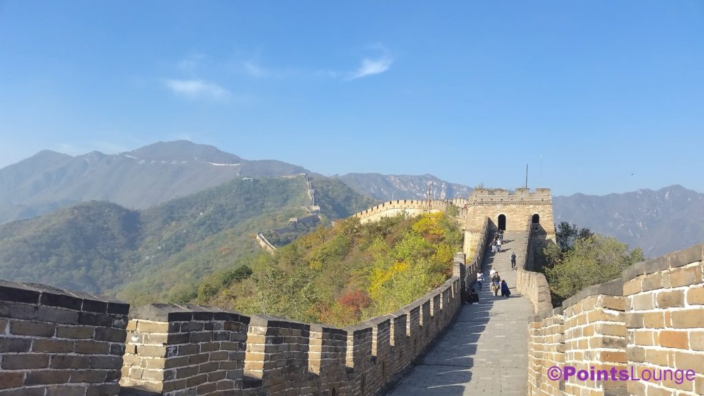A quick sightseeing trip to the Great Wall of China during a day-and-a-half mileage run/mini-vacation to Beijing.