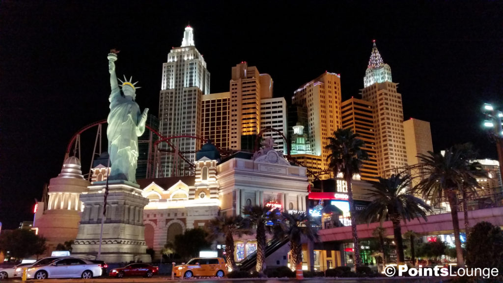 New York-New York Las Vegas, a Mlife Rewards and MGM Resorts hotel and casino resort.