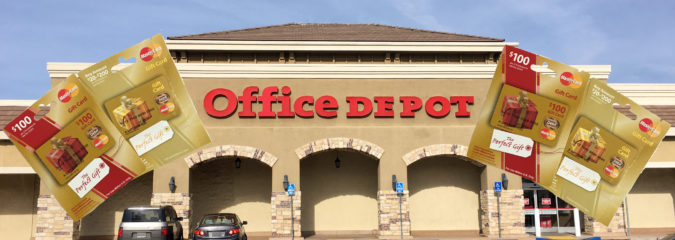 Earn Travel Points and Save Money with Office Depot's Gift Card Sale!