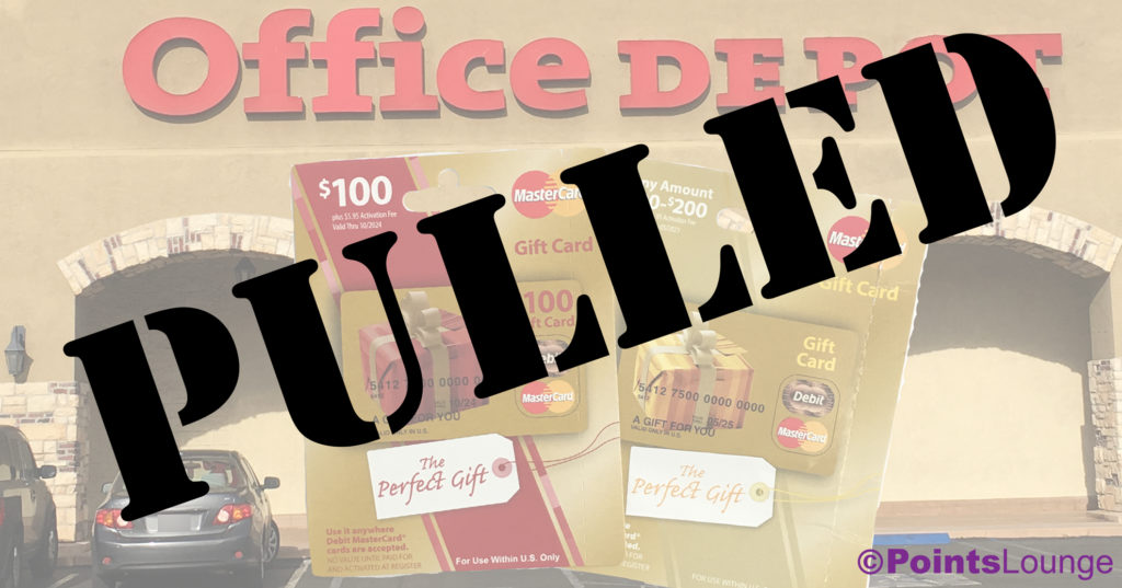 Office Depot pulled their gift card sale -- more than a week early.