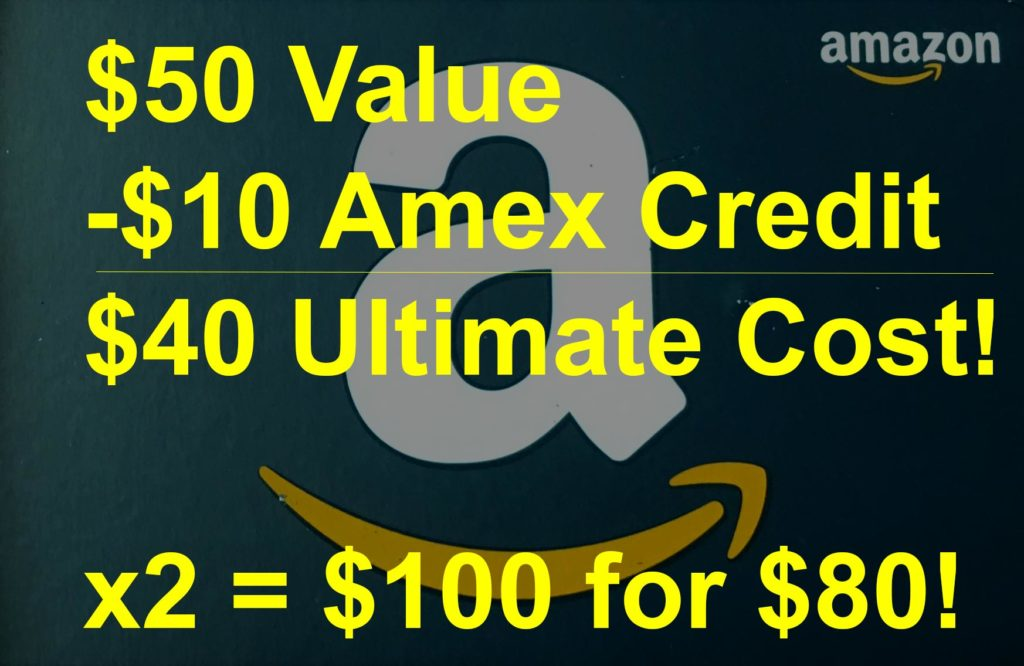 $50 Amazon gift card for $40 with Amex Offer at Office Depot.