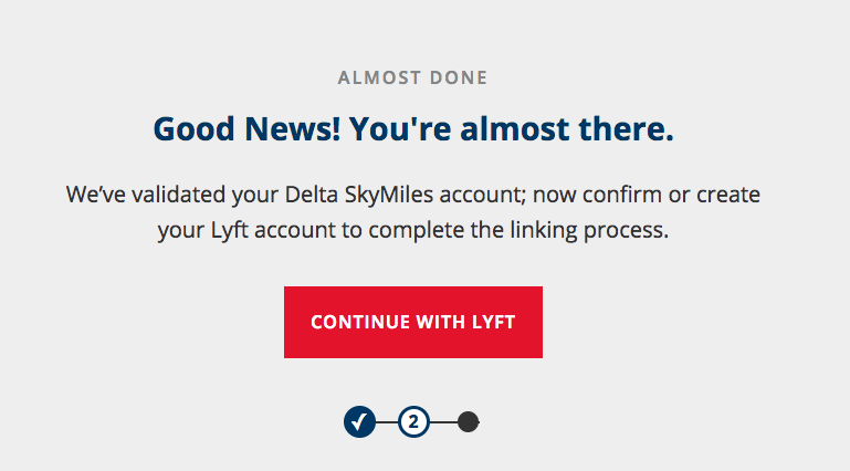 Delta - Lyft profile linking: almost done!