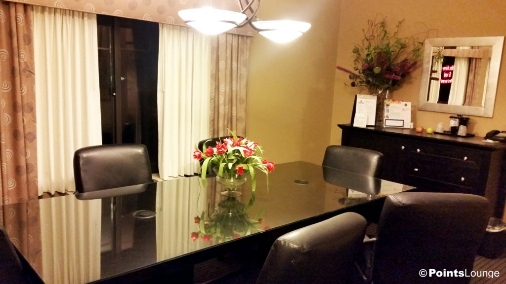 The conference/dining table in our suite at IHG's Holiday Inn Hotel & Suites St. Paul NE - Lake Elmo.