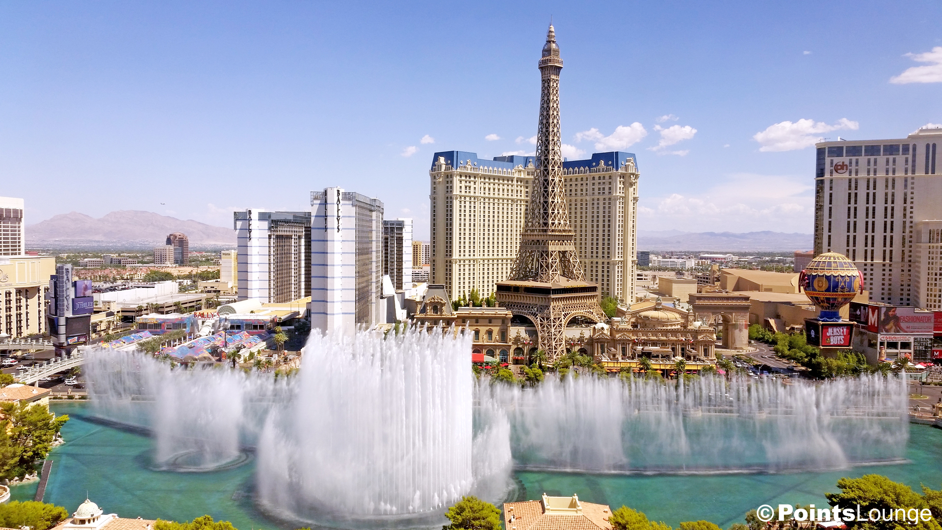 The view from our upgraded room -- thanks to American Express Fine Hotels and Resorts -- at Bellagio Las Vegas! (Click for a larger image.)