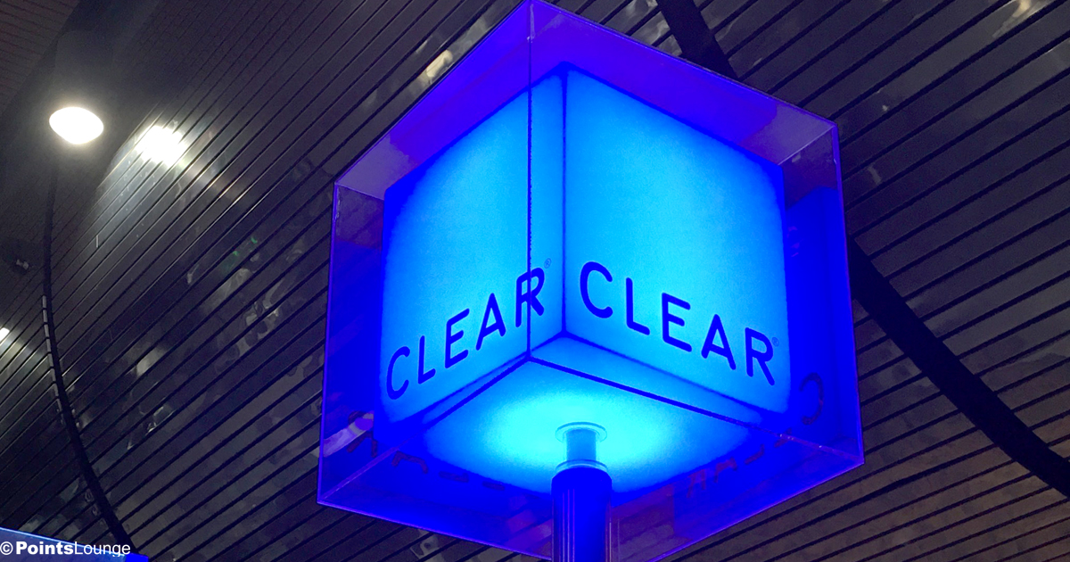 A CLEAR cube is displayed at an enrollment station at Las Vegas McCarran Airport.