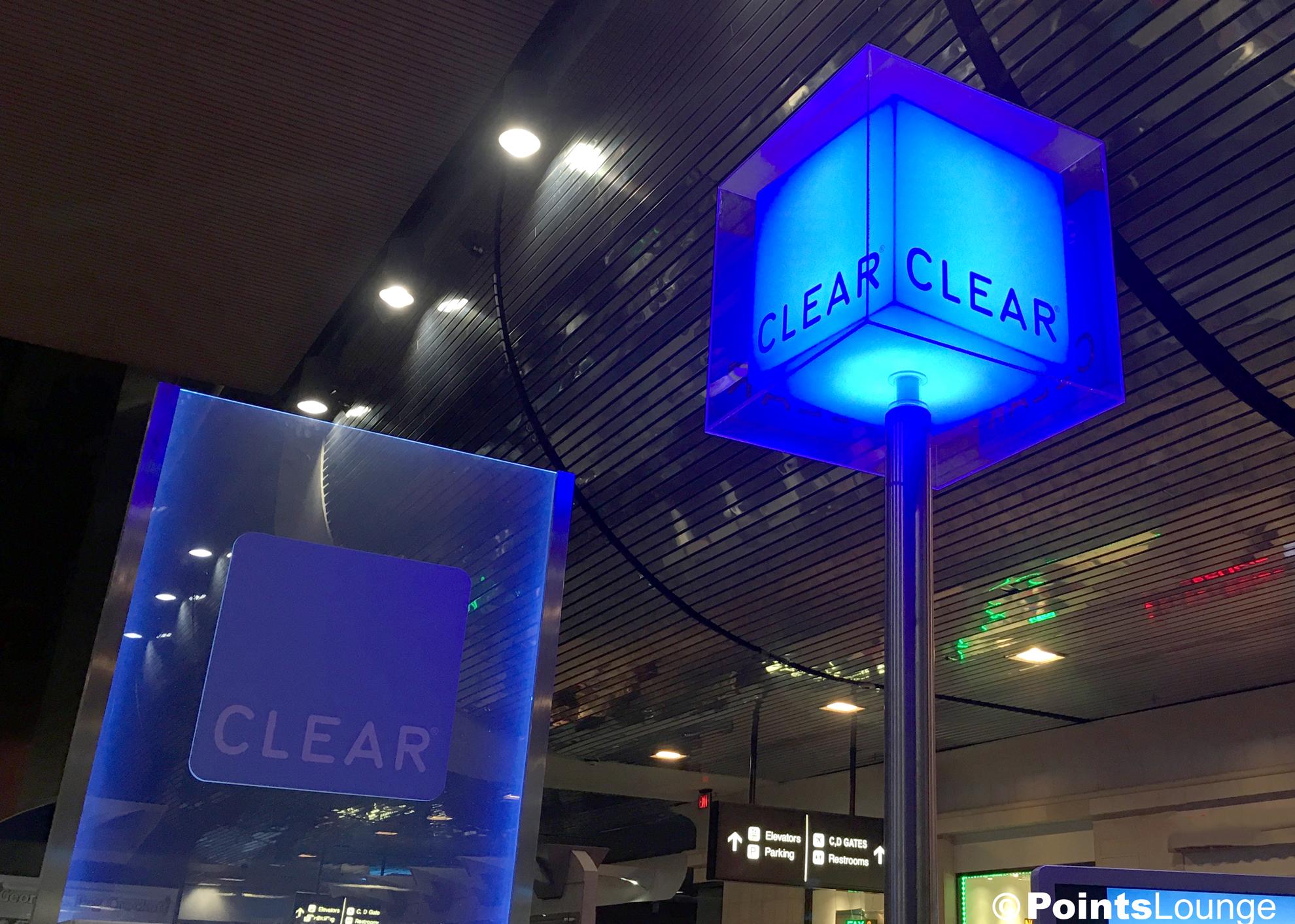CLEAR registration/enrollment location at Las Vegas McCarran Airport.