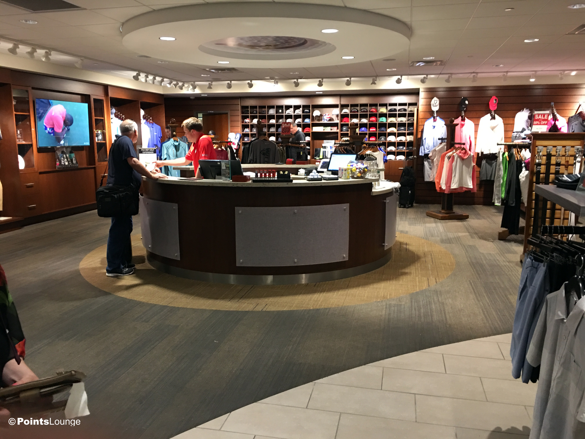 A view of the entrance to the PGA MSP golf-themed airport lounge at the Minneapolis-St. Paul International Airport. One of the ways the lounge can be accessed is with Priority Pass membership. (Click for a larger image.)