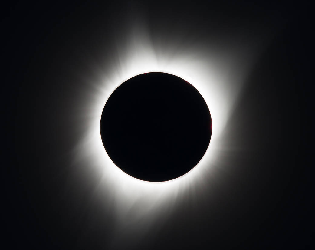 A total solar eclipse is seen on Monday, August 21, 2017 above Madras, Oregon. A total solar eclipse swept across a narrow portion of the contiguous United States from Lincoln Beach, Oregon to Charleston, South Carolina. A partial solar eclipse was visible across the entire North American continent along with parts of South America, Africa, and Europe. Photo Credit: (NASA/Aubrey Gemignani) (Photo: NASA/Aubrey Gemignani)