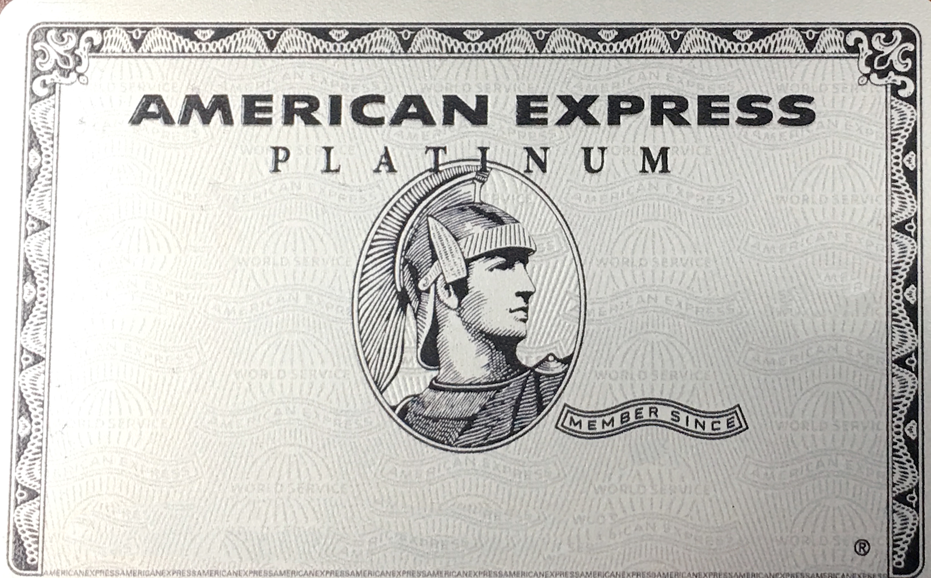 American Express Platinum metal card. (Click for a larger image.)